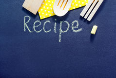 Black board for recipe Royalty Free Stock Photography