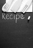 Black board for recipe Royalty Free Stock Image