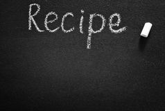 Black board for recipe Stock Images