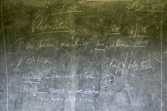 Black board in schoolhouse near Tsavo National Park, Kenya, Africa Royalty Free Stock Images
