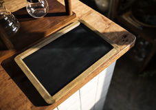 Black Board Show Blank Screen Nobody Royalty Free Stock Images