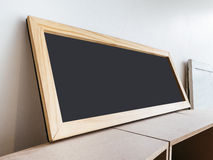 Black board sign Mock up in perspective Royalty Free Stock Photography