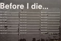 Before i die board. Black board to fill with the phrase before i Die stock photo