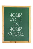 Black Board with Voting Concept Stock Photo