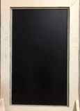 Black board with white frame stock photos