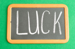 A black board with wording for St Patrick's day Stock Photo