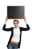 This black board is for you. Stock Photography