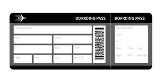 Black boarding pass Royalty Free Stock Photo