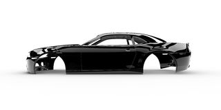 Black body car Royalty Free Stock Photo