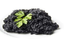 Black Boiled Rice Stock Photography