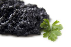 Black Boiled Rice Stock Image