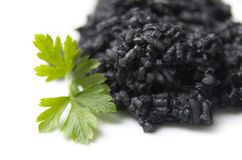 Black Boiled Rice Royalty Free Stock Images