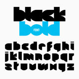 Black bold font, alphabet Royalty Free Stock Photography