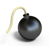 Black bomb Stock Photography