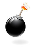 Black bomb burning Stock Photos