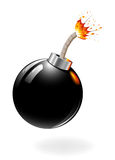 Black bomb burning Royalty Free Stock Photos