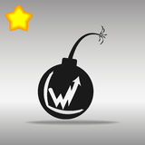 Black Bomb Icon button logo symbol concept high quality Stock Photo