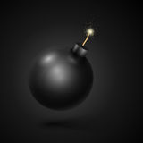 Black Bomb Royalty Free Stock Images