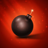 Black Bomb Royalty Free Stock Photography