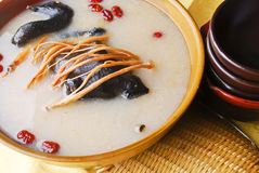 Black-bone chicken soup Royalty Free Stock Images