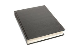 Black book. Isolated on white Stock Photo