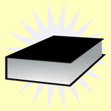 Black book with background. Vector EPS 10. Simple black book with nice background. Vector EPS 10 Royalty Free Stock Image