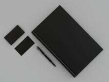 Black book and business card. High resolution Stock Images