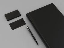 Black book and business card. High resolution Royalty Free Stock Images