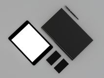 Black book and business card. High resolution Royalty Free Stock Photo