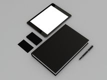 Black book and business card. High resolution Royalty Free Stock Photos