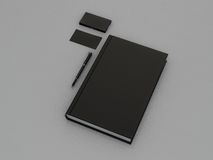 Black book and business card. High resolution Stock Photography