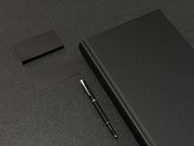 Black book and business cards Stock Image