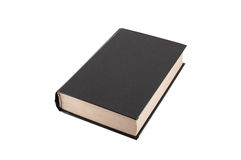 Black book close up. The black book isolated on a white background Royalty Free Stock Photography