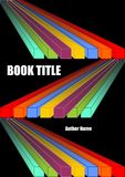 Black book cover with diagonal vivid prism shapes in rainbow colors. Spectrum colors on dark background. Vector EPS 10 Royalty Free Stock Photography