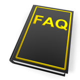 Black book with golden word FAQ. Stock Photography