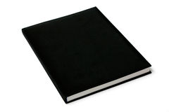 Black Book I. Black notebook on white background Stock Photo