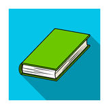 Black book icon in flat style  on white background. Books symbol stock vector illustration. Stock Images