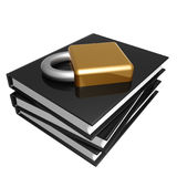Black book about internet security Stock Image