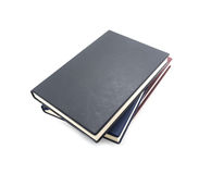Black book isolated on white Royalty Free Stock Photography