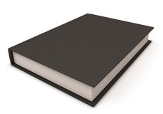 Black book. Black book isolated on white. Black book close-up. 3d render image Royalty Free Stock Images