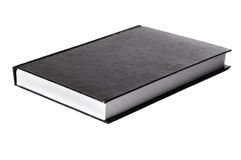 Black book without logo laying down Stock Photography