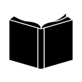 Black book open icon. Illustraction design image Stock Photography