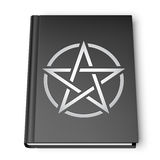 Black Book With Pentagram. Simbol isolated on white background Royalty Free Stock Photography
