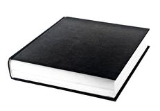 Black book in row. Isolated on white background Royalty Free Stock Photos