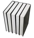 Black book in row. Isolated on white background Stock Images