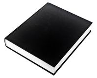Black book in row. Isolated on white background Royalty Free Stock Image