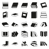 Black book simple icons set. Vector black book icons set on white Royalty Free Stock Images