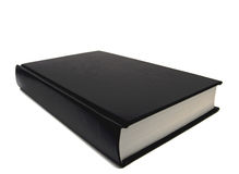 Black book on white background Royalty Free Stock Image