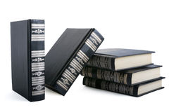 Black books. Isolated on white background Stock Photos