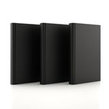 Black books. On a white background Royalty Free Stock Image